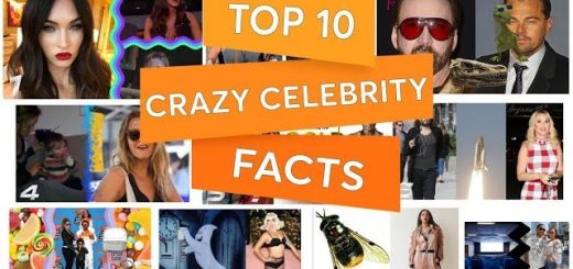 top 10 crazy celebrity facts youtube thumbnail 520x245 - Top 10 CRAZY celebrity FACTS